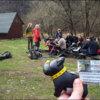 Photo: Baza namiotowa w Radocynie. W tle ekipa drąca jap