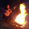 A burned guitar