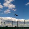 Photo: Airplane landing at FRA airport, Pan was impressed