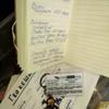 Photo: Слепой Пью в контейнере и моя запись